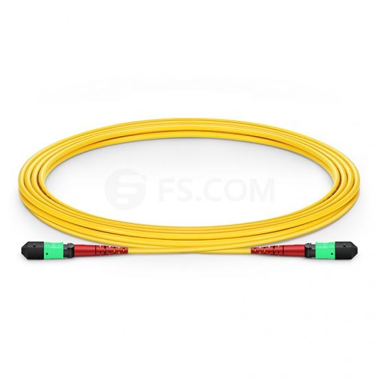 24 Fibres MTP to MTP Female Plenum (OFNP) OS2 Single Mode Elite Fibre Trunk Cable, Type A, 3m