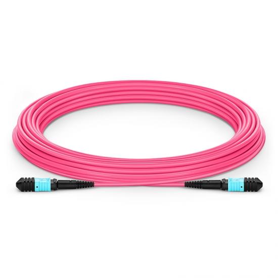 10M 12芯 MPO(母)万兆多模OM4 (OM3)主干光纤跳线,极性A ,低插损,LSZH