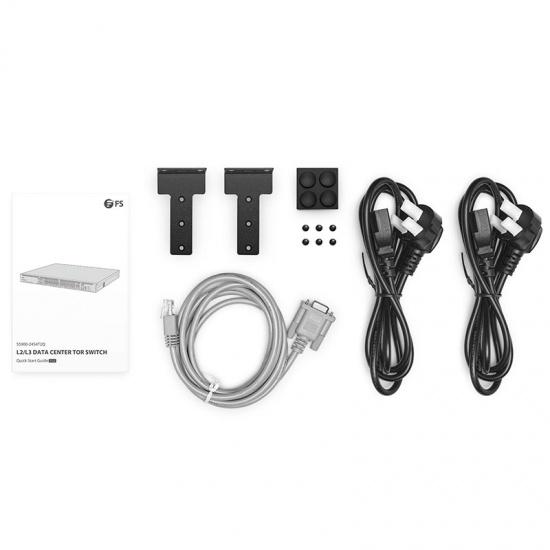 S5900-24S4T2Q 24-Port 10Gb SFP+ L2/L3 Data Center TOR Switch with 4 Gigabit  RJ45 and 2 40Gb QSFP+ Uplinks