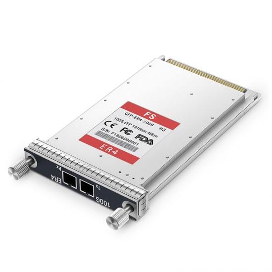 Módulo CFP LC Dúplex 100GBASE-ER4, Compatible con H3C CFP-100G-ER4, Transceptor (Transceiver) Fibra Óptica, Monomodo, 40km, 1310nm