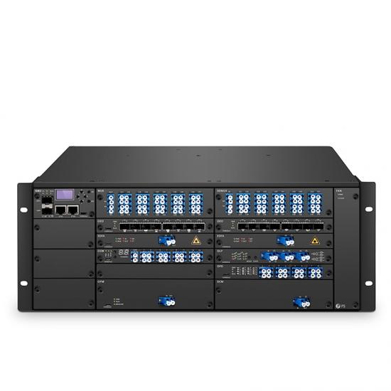 FMT-4000E 低损耗光传输平台,400G  DWDM容量,4U 集成机箱