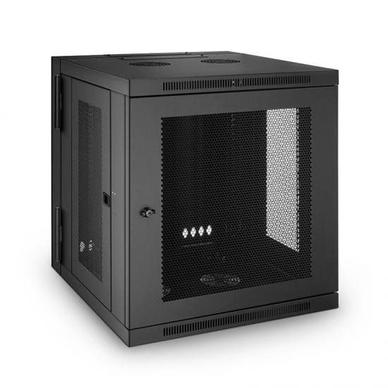 12U GW600系列 19英寸 壁挂式网络机柜,带网孔前门