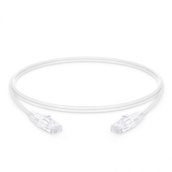 6ft (1.8m) Cat6 Snagless Unshielded (UTP) PVC CM Slim Ethernet Network Patch Cable, White