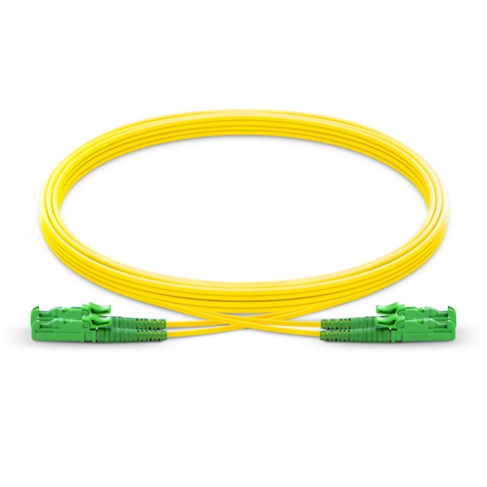Customized Length LSH APC to LSH APC Duplex OS2 Single Mode PVC (OFNR) 2.0mm Fiber Optic Patch Cable