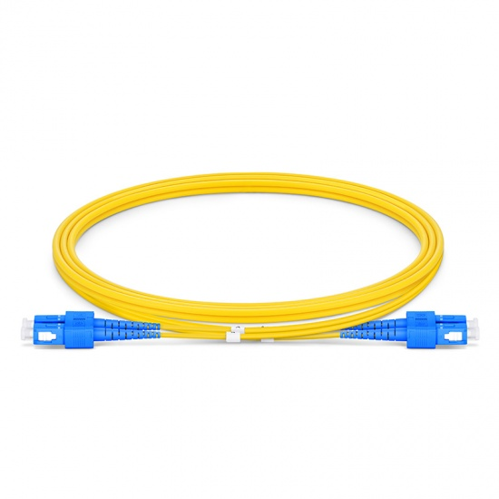 Customized Length SC UPC to SC UPC Duplex OS2 Single Mode LSZH 2.0mm Fiber Optic Patch Cable
