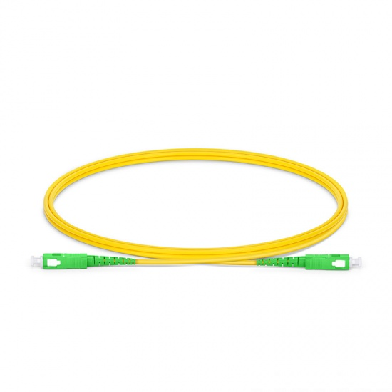 LWL-Patchkabel mit maßgeschneiderter Länge, SC APC auf SC APC Simplex Stecker, OS2 Singlemode LSZH 2,0mm