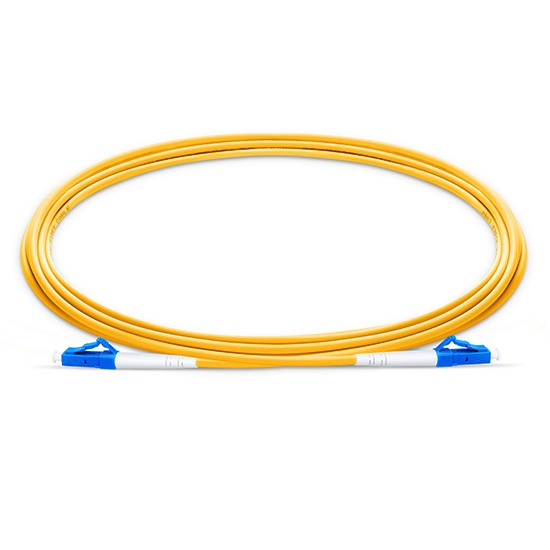 Customized Length LC UPC to LC UPC Simplex OS2 Single Mode LSZH 2.0mm Fiber Optic Patch Cable