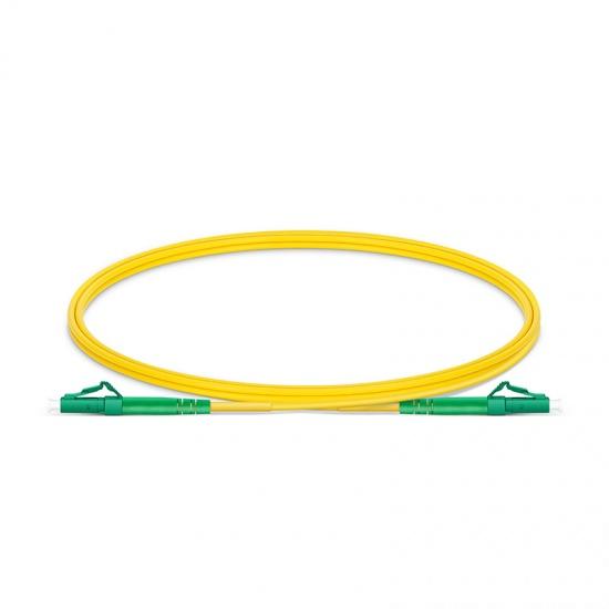 Customized Length LC APC to LC APC Simplex OS2 Single Mode PVC (OFNR) 2.0mm Fiber Optic Patch Cable