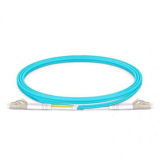 LWL-Patchkabel mit maßgeschneiderter Länge, LC UPC auf LC UPC Duplex Stecker, OM4 Multimode PVC (OFNR) 2,0mm