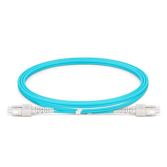 Cable de fibra óptica OM3 multimodo SC UPC a SC UPC dúplex 2.0mm PVC(OFNR), longitud personalizada