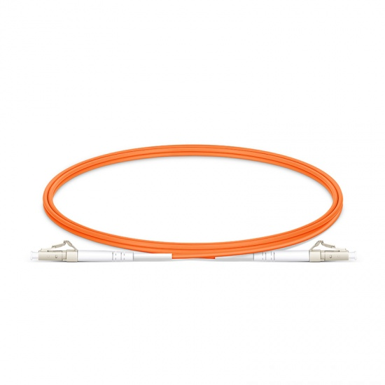 Customized Length LC UPC to LC UPC Simplex OM1 Multimode PVC (OFNR) 2.0mm Fiber Optic Patch Cable