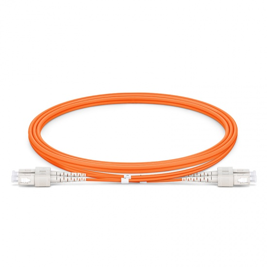 Customized Length SC UPC to SC UPC Duplex OM1 Multimode PVC (OFNR) 2.0mm Fiber Optic Patch Cable