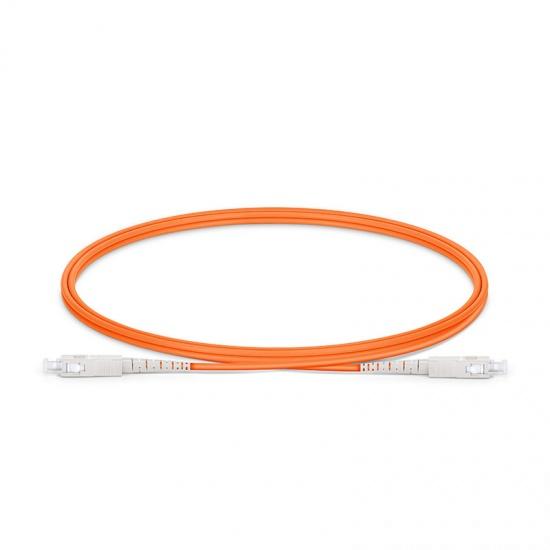 LWL-Patchkabel mit maßgeschneiderter Länge, SC UPC auf SC UPC Simplex Stecker, OM1 Multimode PVC (OFNR) 2,0mm
