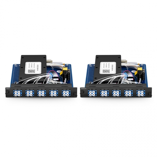 18 Channels 1270-1610nm Dual Fiber CWDM Mux Demux with Monitor Port, Pluggable Module for FMT 1800, LC/UPC