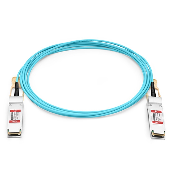 Generisch Kompatibles 100G QSFP28 Aktives Optisches Kabel (AOC), 15m (49ft)