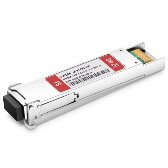 Genérico Compatible C47 10G DWDM XFP 100GHz 1539.77nm 80km DOM Módulo Transceptor
