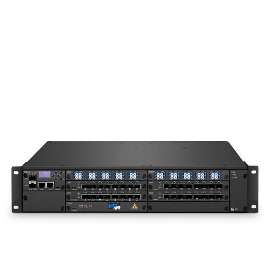 FMT 1600E Erweiternde DWDM Verbindung (Set von zwei), 160Gbps für 60km Doppelfaser  BIDI Ende-zu-Ende Metro Übertragungsplattform, Dual 100V-240VAC in 2U Managed Chassis