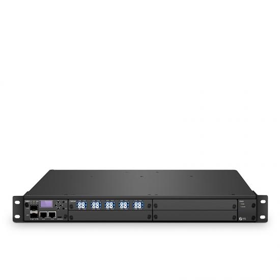 FMT 1800 eficiente conexión CWDM, 90Gbps para una plataforma de transporte de extremo a extremo BIDI de fibra única de 50km, doble 100V-240VAC en chasis administrado 1U