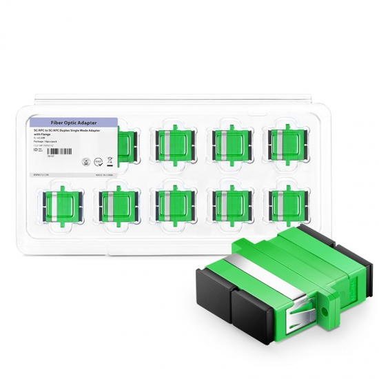 SC/APC-SC/APC 双工单模光纤适配器电信级(10个/盒)
