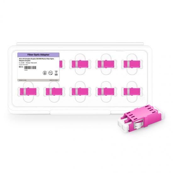 LC/UPC-LC/UPC 双工多模OM4光纤适配器电信级(10个/盒)