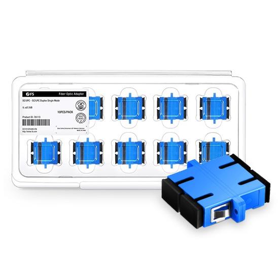 SC/UPC-SC/UPC 双工单模光纤适配器电信级(10个/盒)