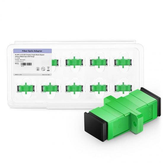 SC/APC-SC/APC 单工单模光纤适配器电信级(10个/盒)