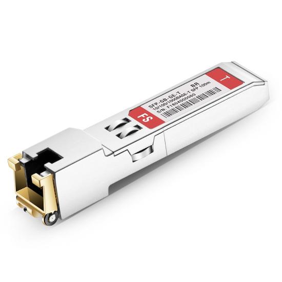 Brocade BCM5421XE Compatible 10/100/1000BASE-T SFP Copper RJ-45 100m Transceiver Module