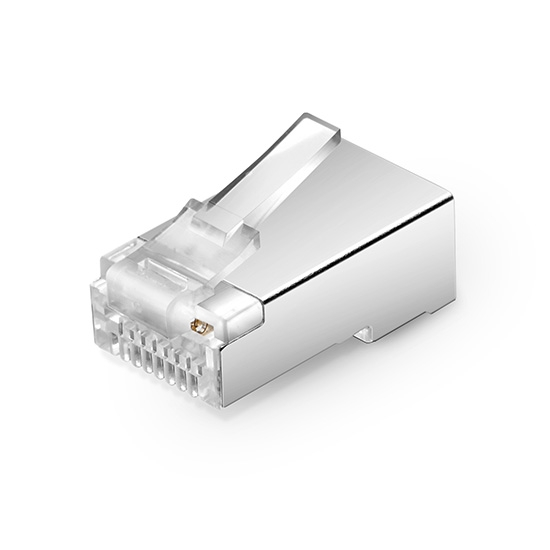 Cat5e RJ45 Shielded (STP) Modular Plug for Solid Cables (50/Pack)