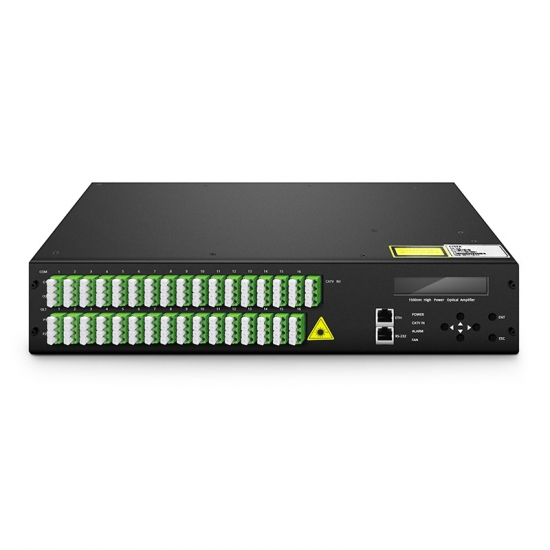 17dBm Output 1550nm 64 Ports FTTx PON High Power EYDFA with WDM for CATV Application, LC/APC, 2U Rack Mount