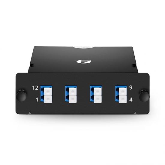 8芯 MPO-4xLC 双工万兆单模(OS2)光纤配线盒,FHD