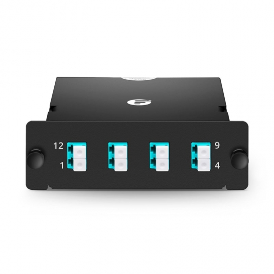 8芯 MPO-4xLC 双工万兆多模(OM3)光纤配线盒,FHD