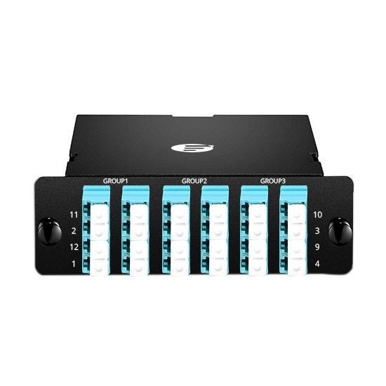 24芯 3xMPO-6xLC四联万兆多模(OM3)光纤配线盒,FHD