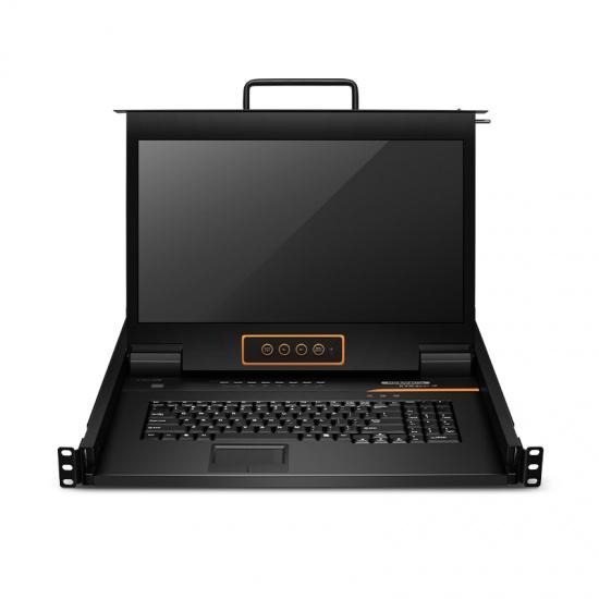 8口×2用户端口 1U机架式USB Cat 5e/6 KVM切换器,带17