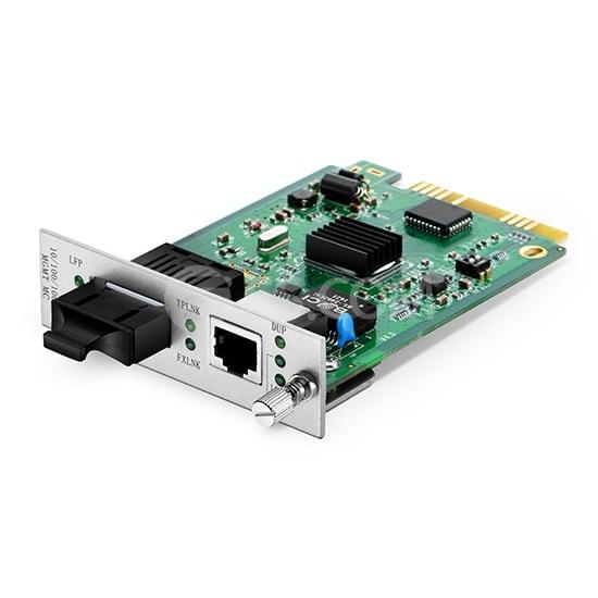 Centralized Managed 1x 10/100/1000Base-T RJ45 to 1x 1000Base-X SC, Dual Fiber, 850nm 550m, Card Type Gigabit Ethernet Media Converter
