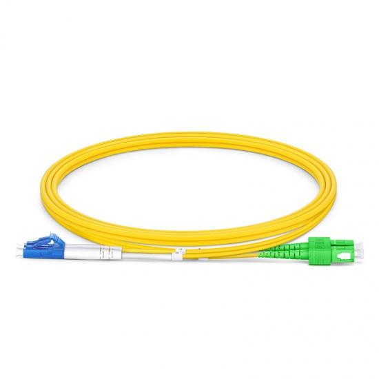 LC/UPC-SC/APC双工单模OS2光纤跳线