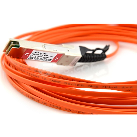 10m (33ft) Cisco QSFP-H40G-AOC10M Compatible 40G QSFP+ Active Optical Cable