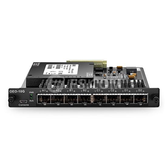 Convertisseur (Transpondeur) WDM Multi-Débit à 4 Canaux, Jusqu'au Débit 11,3G, 8 Rainures SFP/SFP+, Type de Carte Plug-in pour Système de Transport Multiservice FMT
