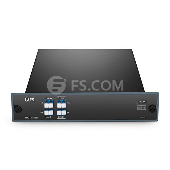 DWDM OADM à 1 Canal C21 Double Fibre, Est et Ouest, FMU Module Plug-in, LC/UPC
