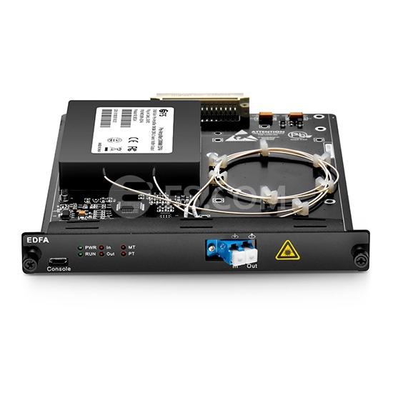 Amplificador óptico del reforzador EDFA de la salida 1550nm de 17dBm, tipo de la tarjeta plug-in para las aplicaciones de CATV