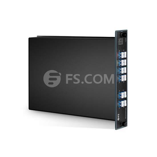 8 Channels 1470-1610nm, with Monitor, Expansion and 1310nm Port, Dual Fiber CWDM Mux Demux, FMU Plug-in Module, LC/UPC