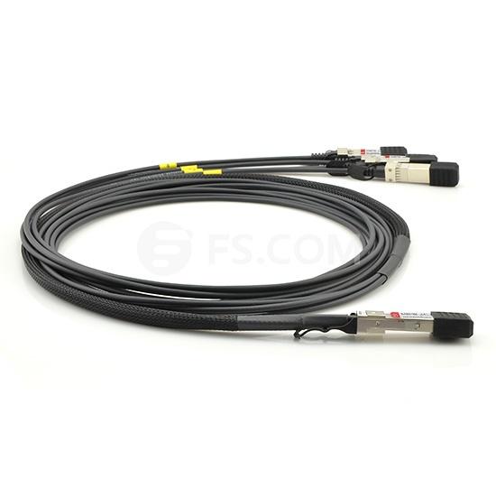 3m (10ft) Cisco QSFP-4SFP10G-CU3M Compatible 40G QSFP+ to 4x10G SFP+ Passive Direct Attach Copper Breakout Cable