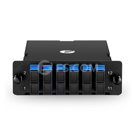 MTP-12 MPO/MTP Cassette, 12 Fibers Single Mode, SC Duplex, Type A