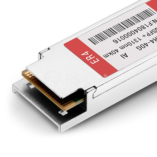 Transceptor de Fibra QSFP+ 40GBASE-ER4 1310nm DOM hasta 40km - Compatible con Arista Networks QSFP-40G-ER4