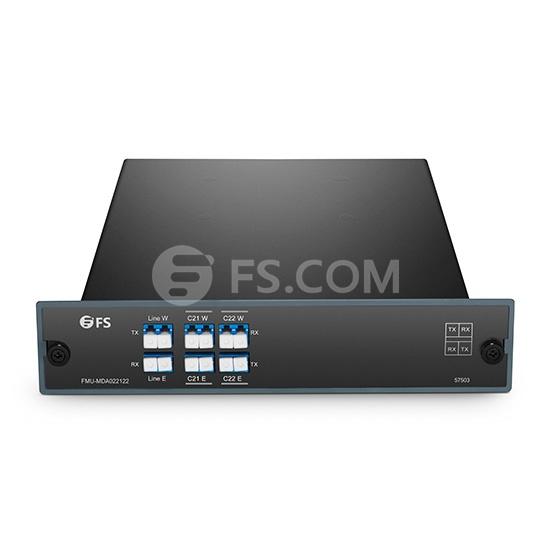 2-Kanale C21-C22 Doppelfaser DWDM OADM, Ost und West, FMU Plug-in Module, LC/UPC