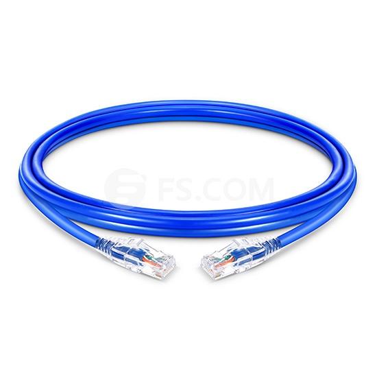 Cable de Red Ethernet Delgado RJ45 UTP Cat6 PVC CM 28AWG 1000Mbps y máximo a 10Gbps Azul 1.5ft (0.5m)
