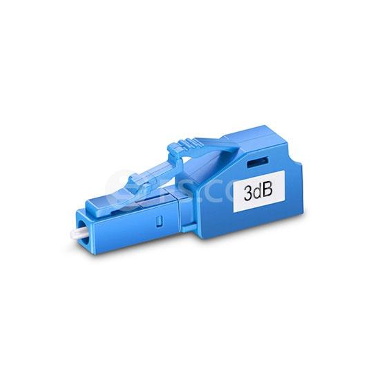 LC/UPC festes LWL-Dämpfungsglied, 3dB, Singlemode, Stecker-Buchse