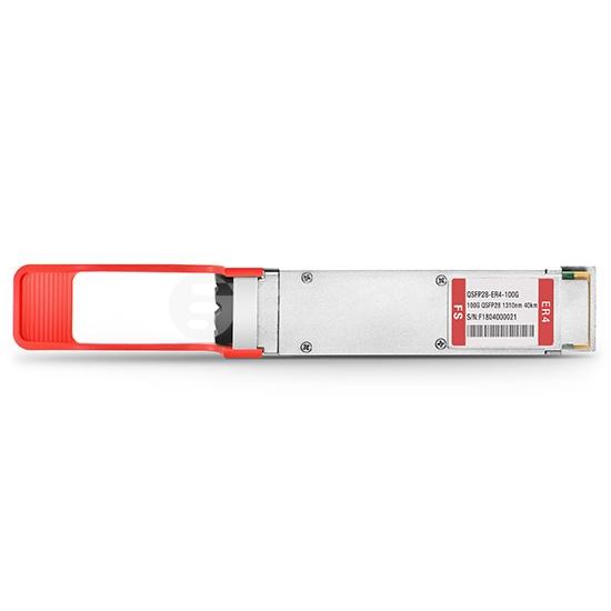 Transceptor de Fibra QSFP28 100GBASE-ER4 1310nm DOM hasta 40km - Compatible con Cisco QSFP-100G-ER4L-S