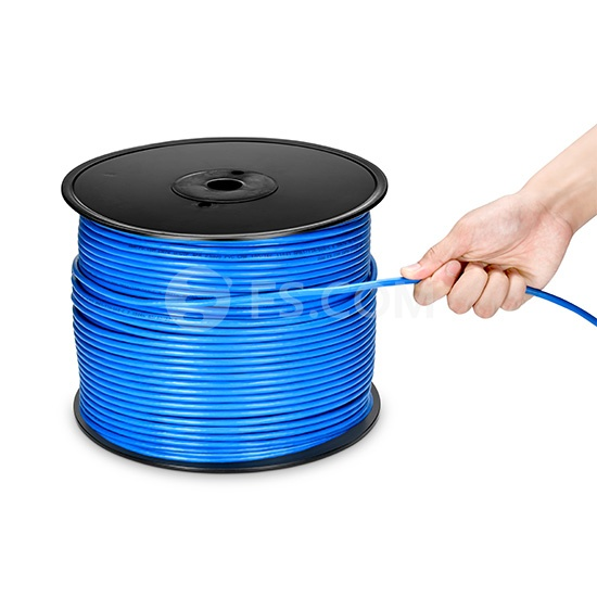 1000ft (305m) Cat6 Unshielded(UTP) Solid PVC CMR Bulk Ethernet Cable-Blue