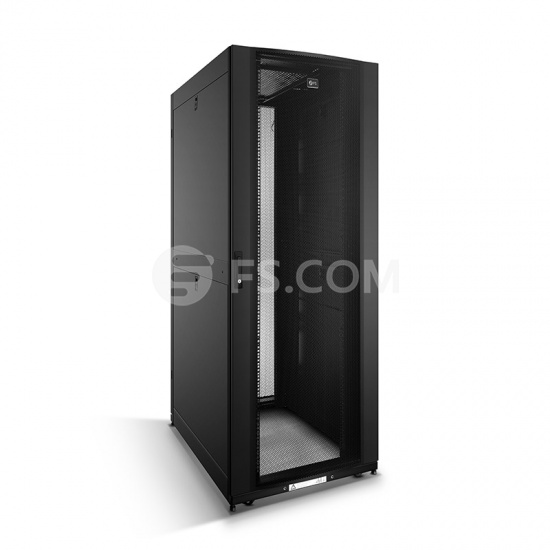 42U Black Network & Server Cabinet 800x1170mm with 2 Pre-Installed Cable Managers and PDU Brackets