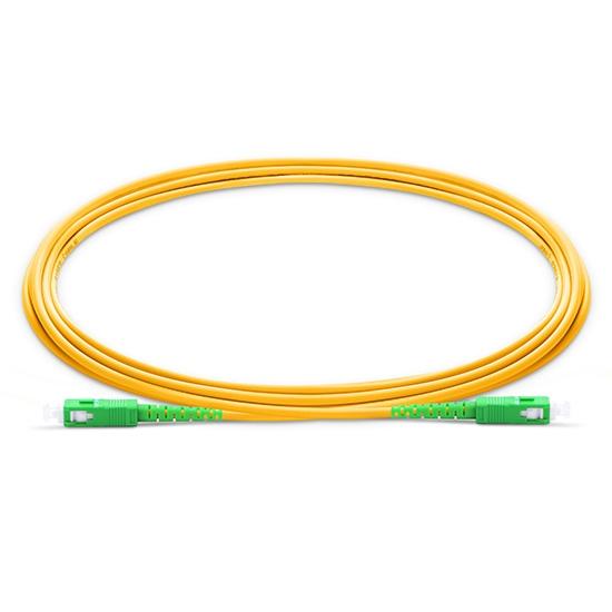 0.5m (1.6ft) SC APC to SC APC Simplex OS2 Single Mode PVC (OFNR) 2.0mm Fibre Optic Patch Lead